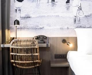 slaapkamer Hotel Albert Plage
