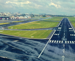 Brussels airport landing field