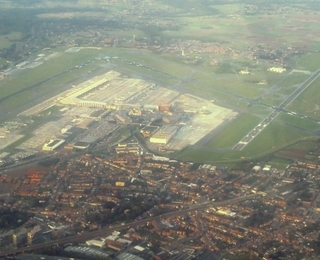 Brussels airport sky view