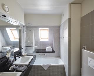 Badezimmer Hotel Binnenhof