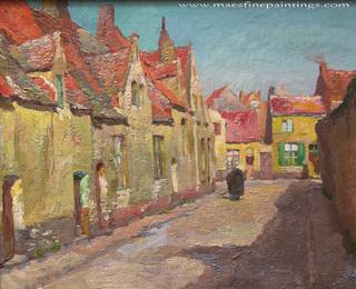 Joseph Middeleer A Sunlight Street Scene