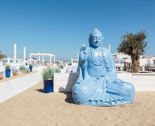 Blue Buddha statue