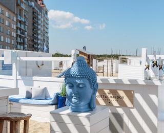 Blue Buddha schaduw