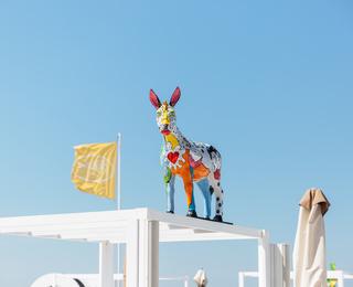 Siesta Beach Geschilderde ezel