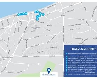 Kaart Brafa in the galleries Knokke-Heist