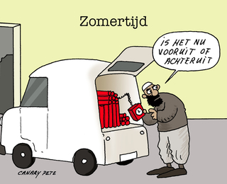 Press Cartoon Belgium Grote prijs Knokke-Heist - Canary Pete