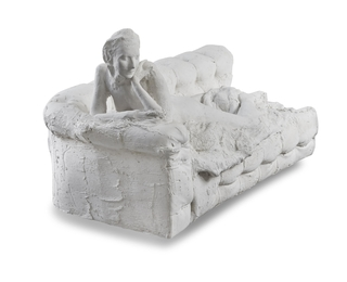 George Segal, Nude on couch on her stomach