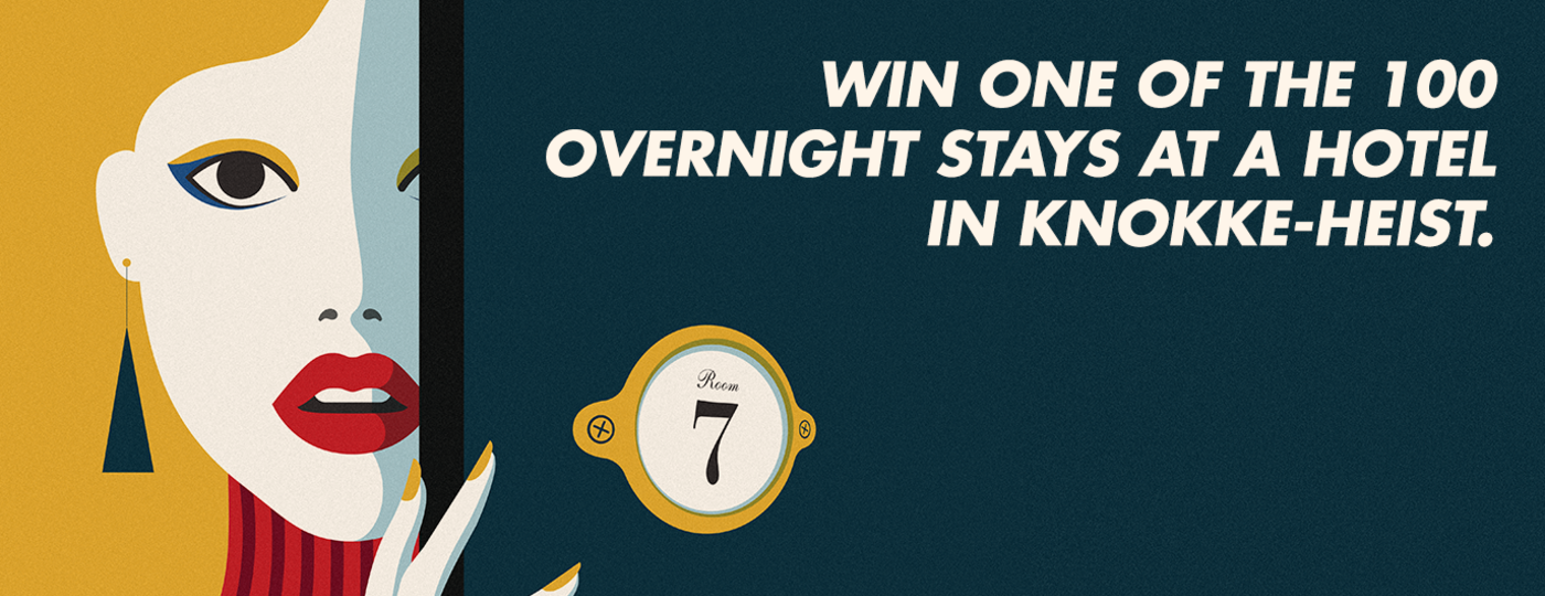 Win 1 of 100 free night stays in Knokke-Heist